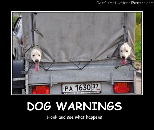Dog Warnings Best Demotivational Posters