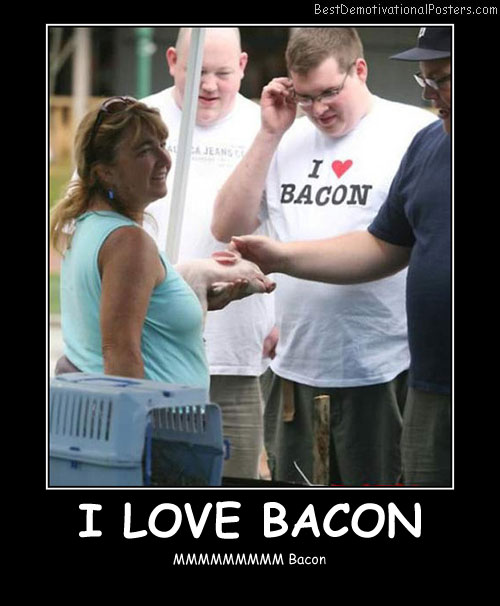 I Love Bacon Best Demotivational Posters