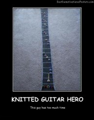 Knitted Guitar Hero