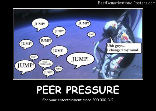 Peer Pressure Quotes Entrancing Peer Pressure  Demotivational Poster