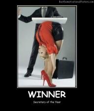 Winner Secretary Best Demotivational Posters
