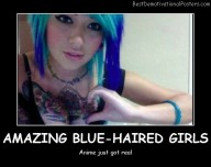 Amazing Blue-Haired Girls