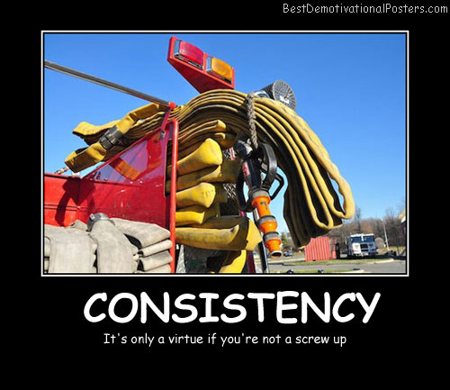 Consistency Best Demotivational Posters