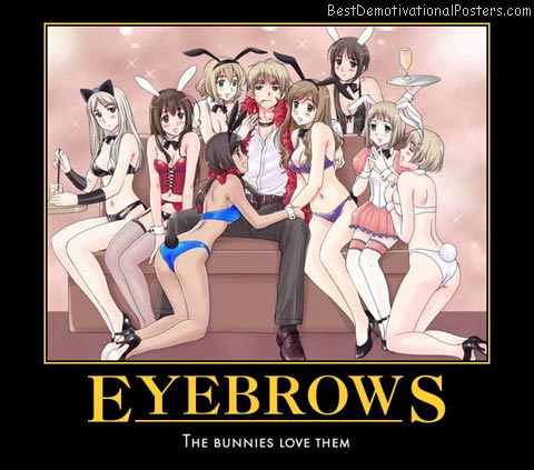 Eyebrows Bunnies anime