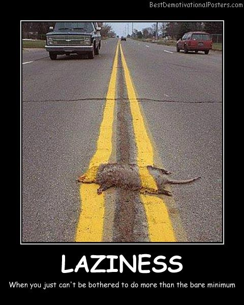Laziness Best Demotivational Posters