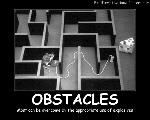 Obstacles In Labyrinth Best Demotivational Posters