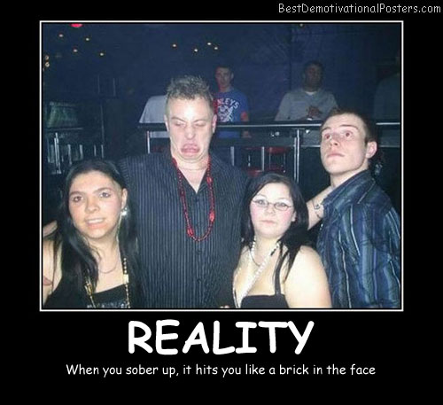 Reality When you Sober Up Best Demotivational Posters