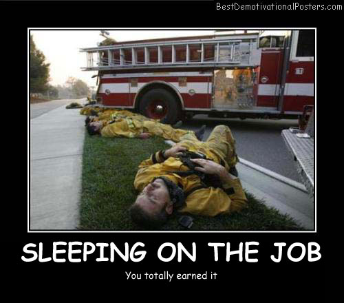 Sleeping On The Job Best Demotivational Posters