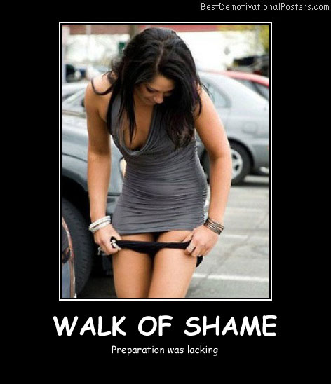 Walk Of Shame Best Demotivational Posters