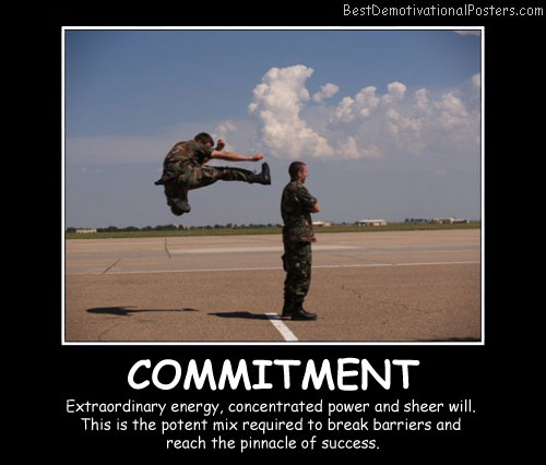 Commitment Best Demotivational Posters