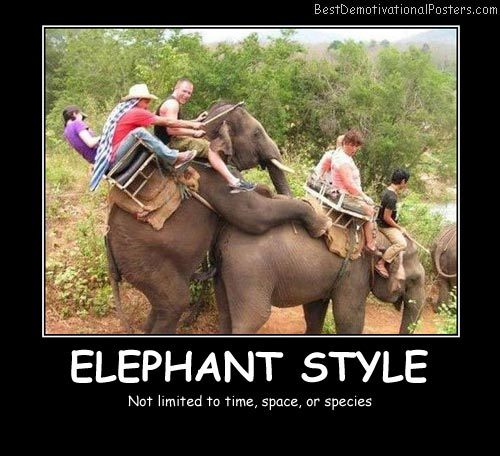 Elephant Style Best Demotivational Posters