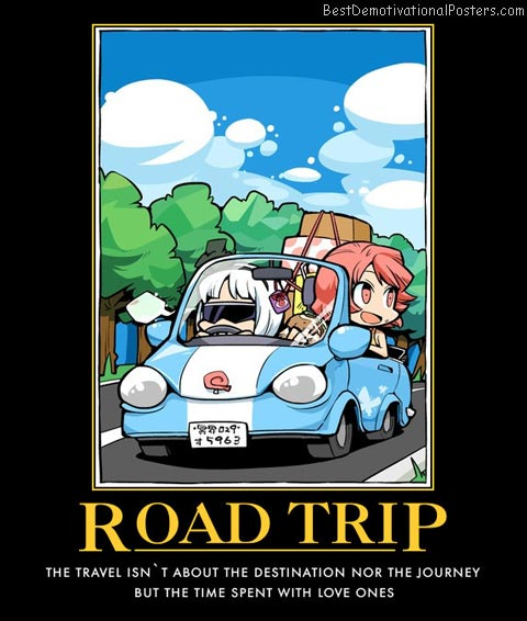 Road Trip Anime Motivational Poster