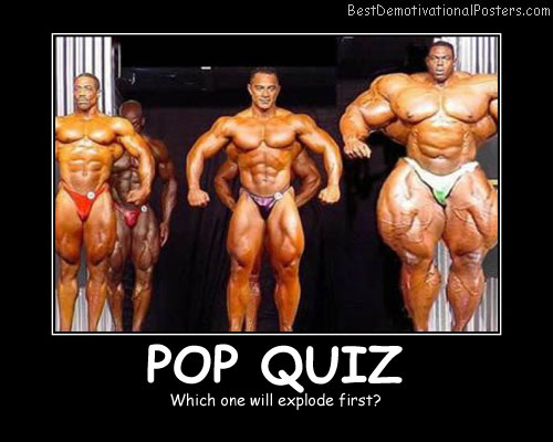 Pop Quiz Best Demotivational Posters