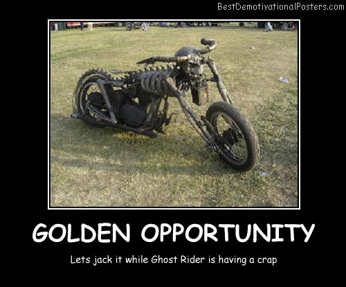 Golden Opportunity Best Demotivational Posters