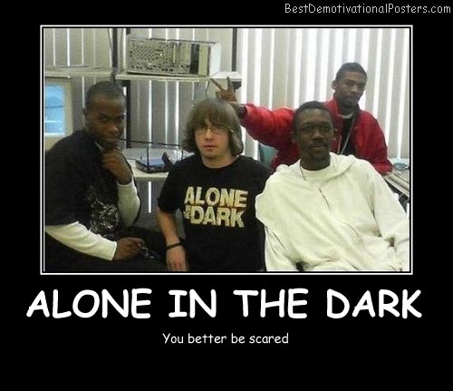 Alone In The Dark - Best Demotivational Posters