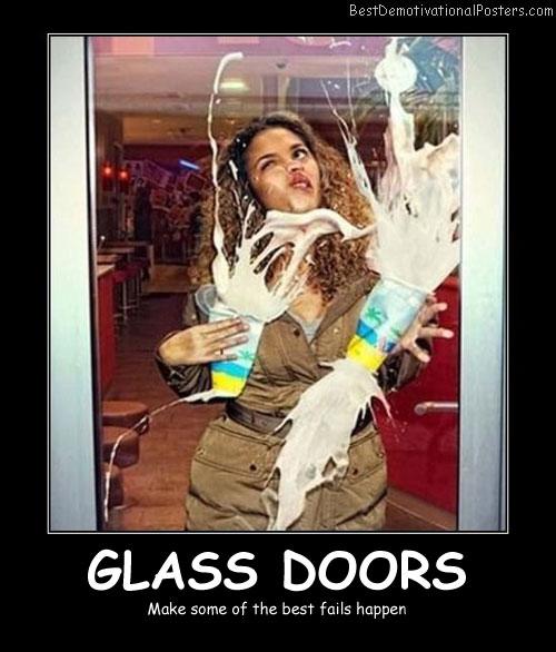 Glass Doors - Best Demotivational Posters
